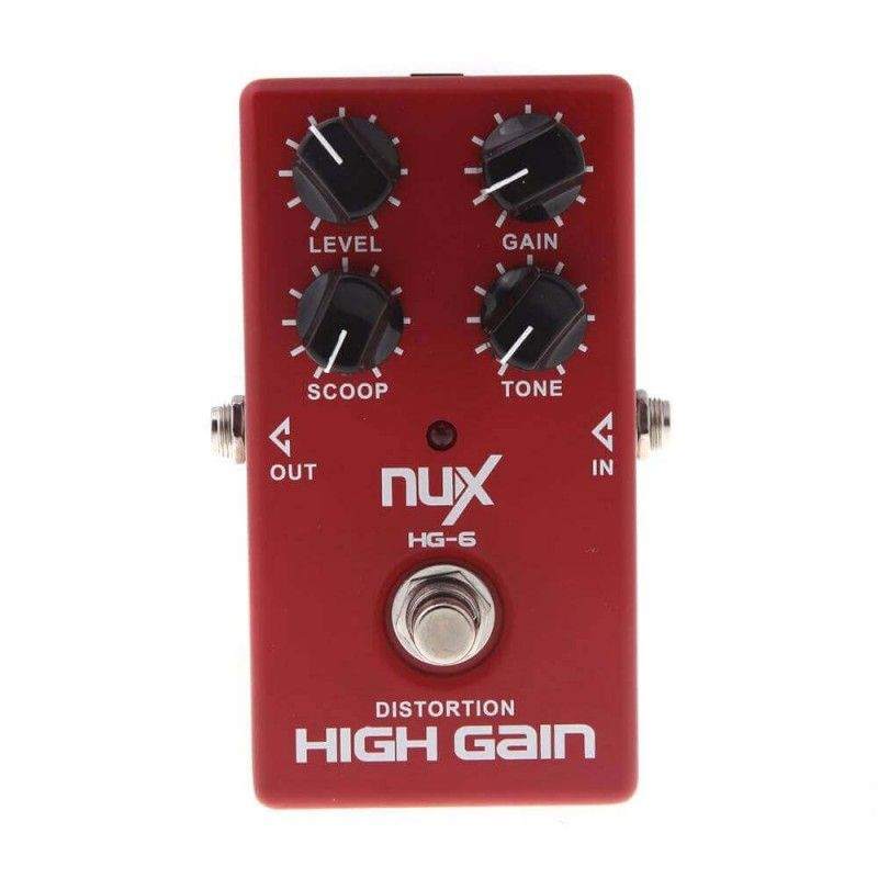 NUX HG6 HIGH GAIN Pedal de distorsion de alta ganancia