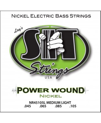 CUERDAS PARA BAJO DE 4 SIT - POWER WOUND Nickel (45-105) MEDIUM LIGHT