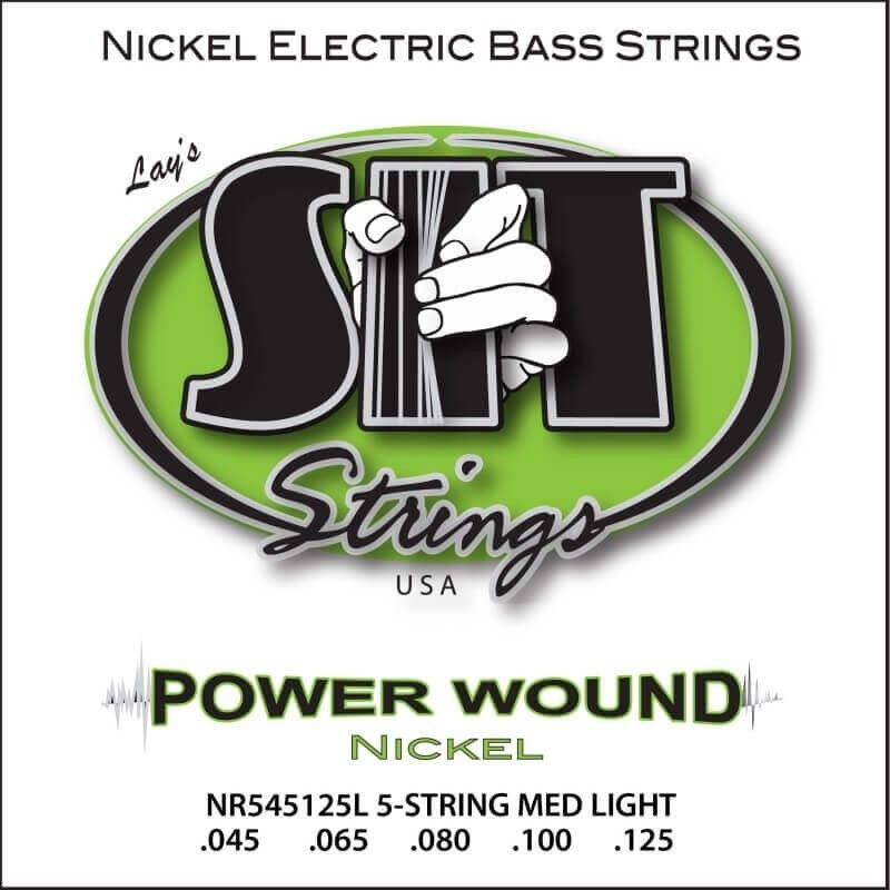 CUERDAS PARA BAJO DE 5 SIT - POWER WOUND Nickel (45-125) MEDIUM LIGHT