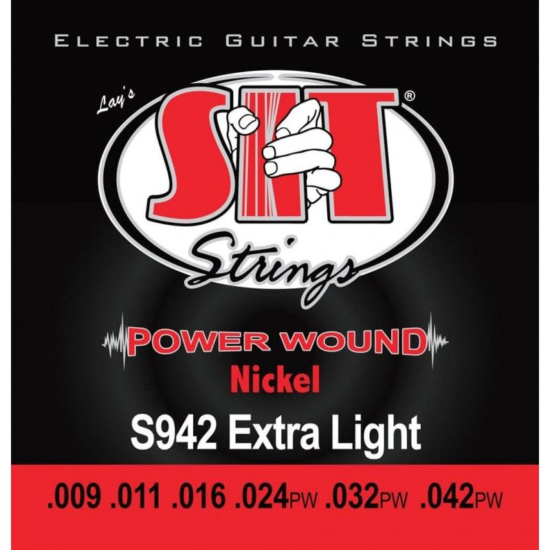 CUERDAS PARA GUITARRA SIT POWER WOUND NICKEL ELECTRIC EXTRA LIGHT