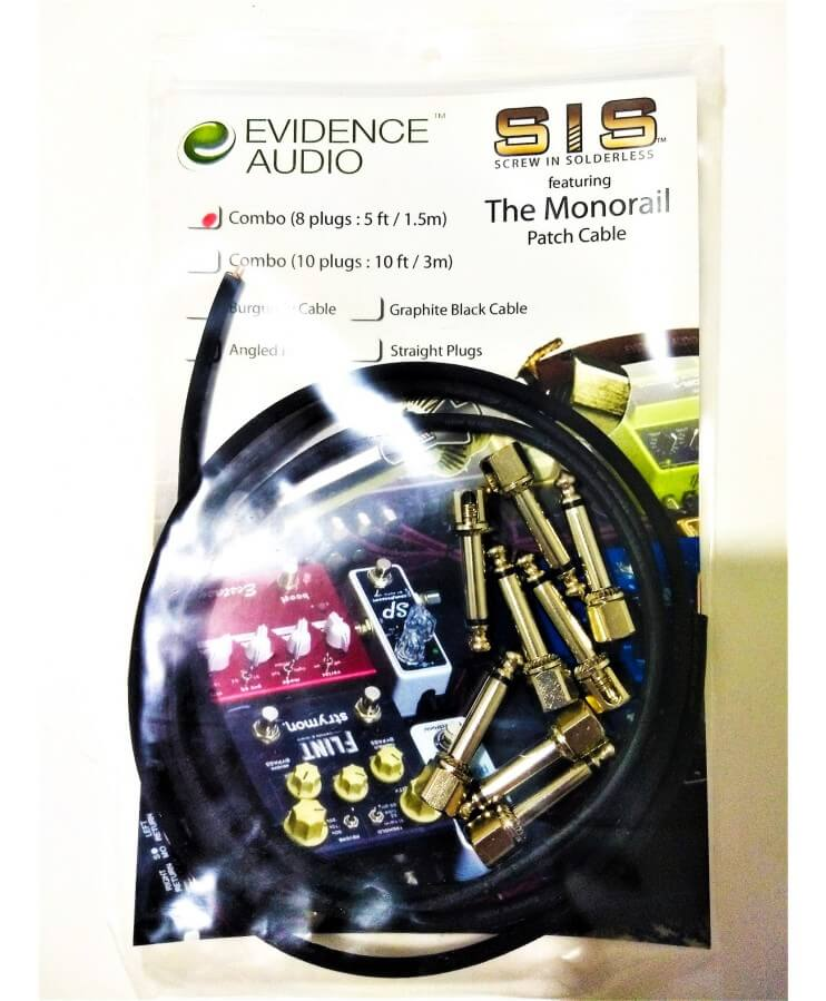 PACK EVIDENCE PATCH CABLES SISPACK 8-5 SIN SOLDADURA COLOR NEGRO