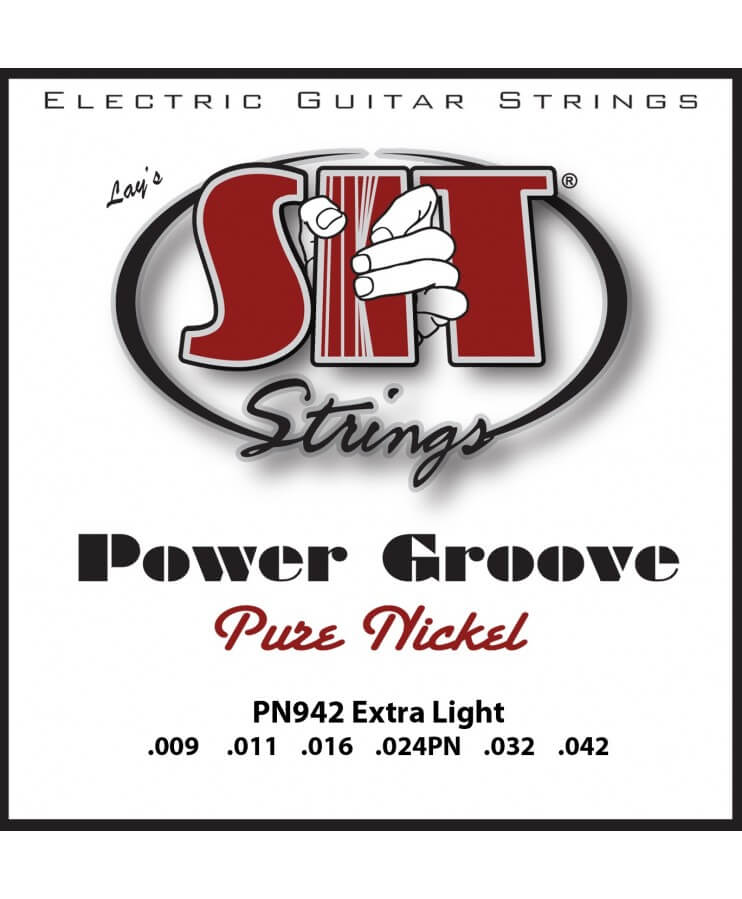 CUERDAS PARA GUITARRA SIT POWER GROOVE (9-42) PURE NICKEL - EXTRA LIGHT
